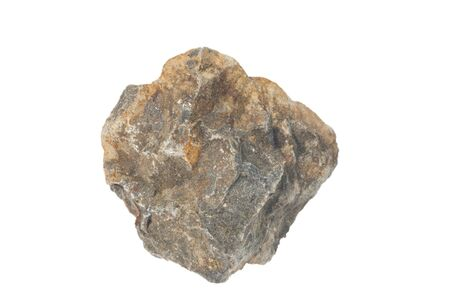 obrero: Roca bas�ltica aislante en blanco Foto de archivo