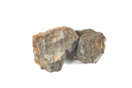stone volcanic stones: Basalt rock isolate on white