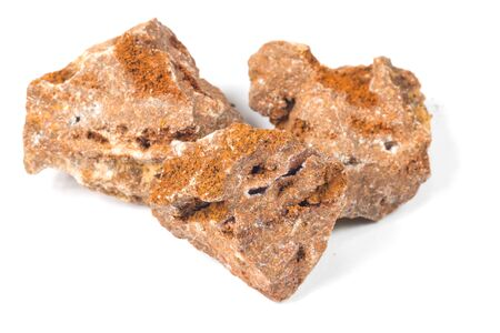 stone volcanic stones: Fragment of Hemimorphite isolated on white Stock Photo