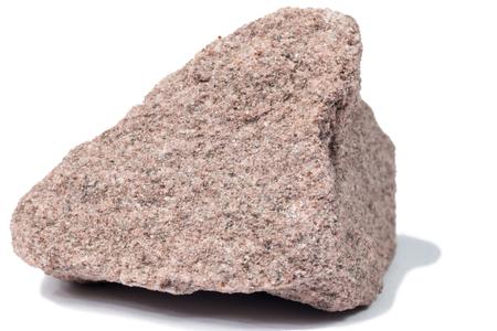 Quartzite stone isolated on white