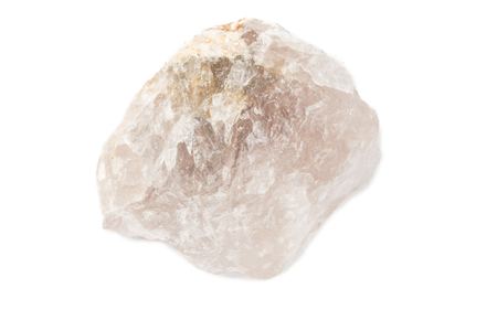 octahedral: fluorite mineral crystal sample for science and geology isolate on white Stock Photo