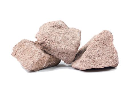 quartzite: Quartzite stone isolated on white