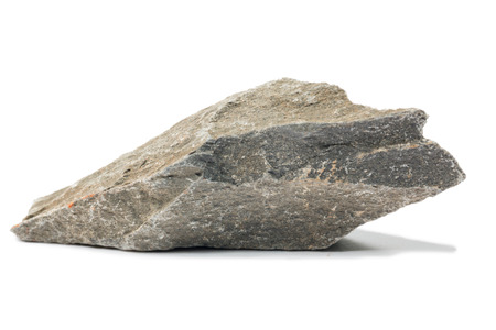 mineral stone: Shale mineral stone isolated on white background
