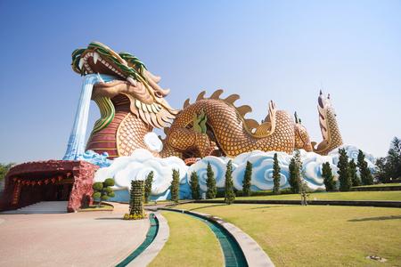 descendants: Big dragon at Dragon descendants museum, Suphanburi, Thailand Editorial