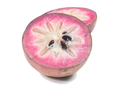 Star apple or cainito isolated on white background