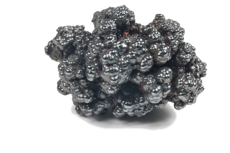 supernatural power: photo of Hematite mineral (sacred mineral) isolated over white