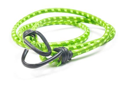 elasticidad: cuerda elástica correas aislado en el blanco