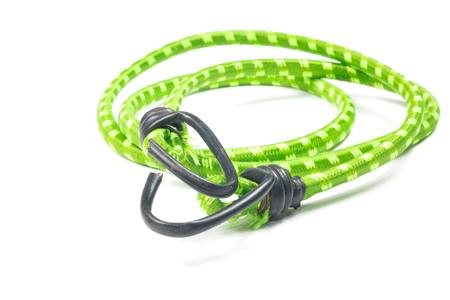 elasticidad: cuerda el�stica correas aislado en el blanco