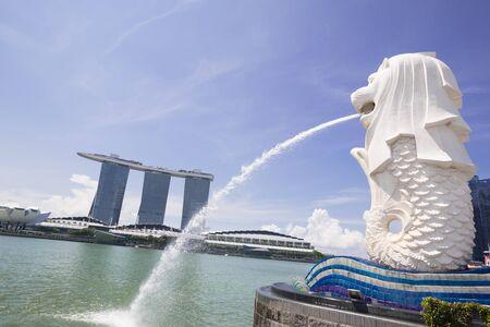 marina bay: morning at Singapore Marina Bay Editorial