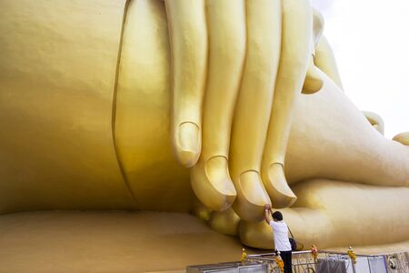 belive: beautiful biggest Buddha in Thailand, Ang Thong province