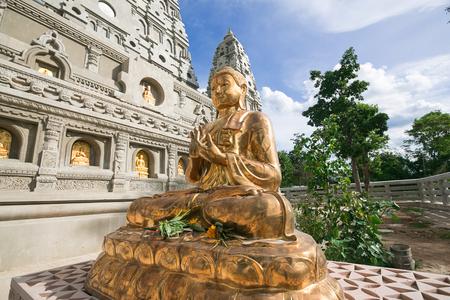 Golden Buddha in Wat Chong Kham Lampang,thailand