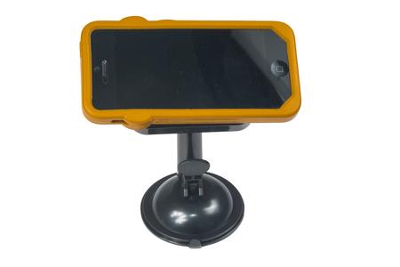 holder for smart phones or tablet on white background Imagens