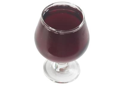 free radicals: Glass of juice isolate on white background