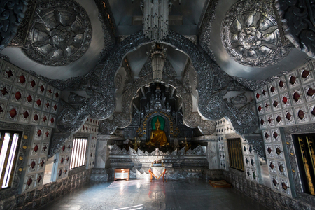 Silver Sanctuary Wat Srisuphan(temple) is Beautiful architecture in Chiangmai, Thailand Editorial