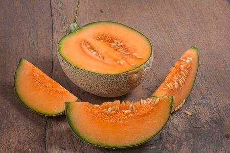 cantaloupe melon 写真素材