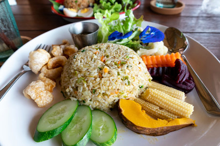 Delicious fried rice with chili and Vegetable