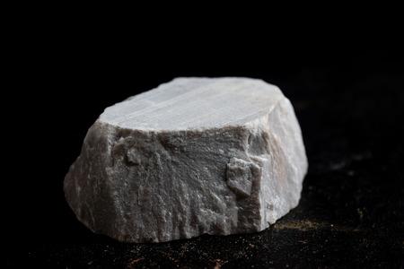 dolomite stone isolate on black background
