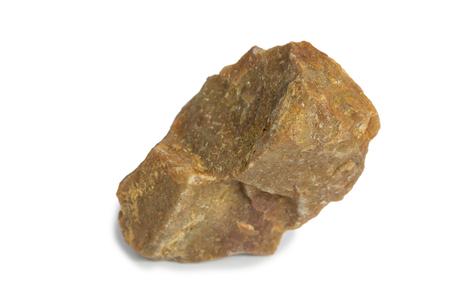 Quartzite stone isolated on white background