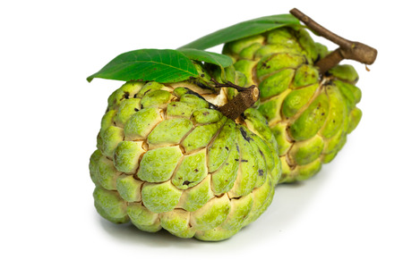 custard apple fruit (Sugar apple fruit) isolate on white background Stock Photo