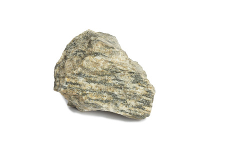 gneiss Rock isolate on white background