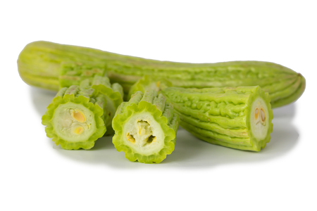 Bitter Cucumber isolate on White 版權商用圖片