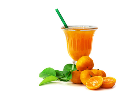 fresh Chinese orange cut and orange juice