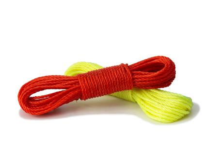 Nylon rope isolate on white background