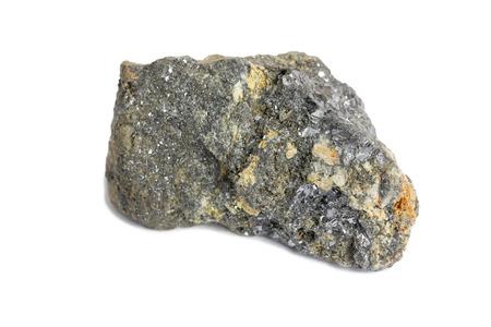 galena stone isolate on white background Stok Fotoğraf
