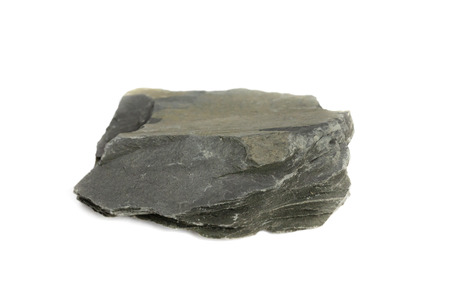 Slate Rock isolate on white background 免版税图像 - 111868347