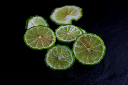 Bergamot or Kaffir lime Cut half