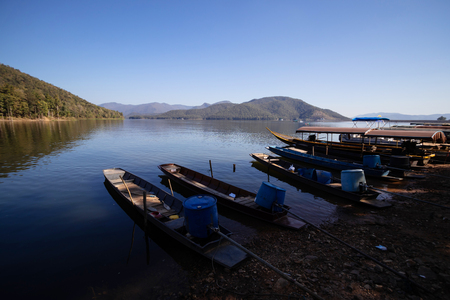 boat For tourists in Mae Ngad Dam of Chiang Mai