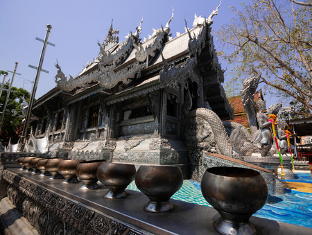 Wat Si Suphan (temple )Made from silver in Chiangmai province