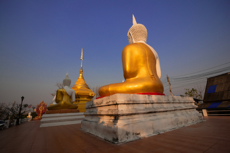 Golden Buddha in Old temple in Lampang province
