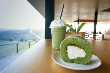 Cake made from tea with green in tea garden Banco de Imagens - 118731532