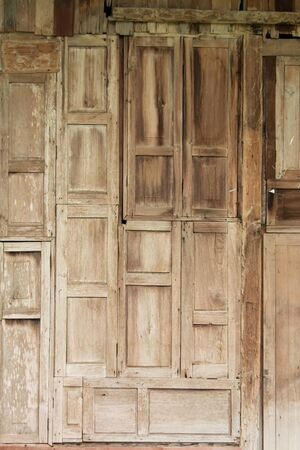 Old house wall Made of wood background