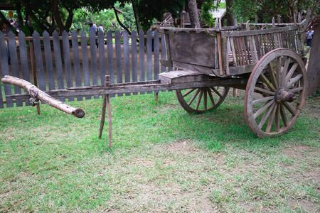 Cart For cattle or buffalo For use in transportation, travel in the past