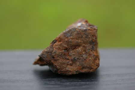 minerals of Iron Rock minerals for industry isolate on green background