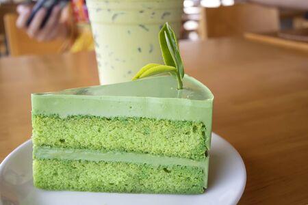 Cakes made from green tea Banco de Imagens