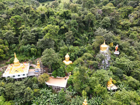 Buddhist temple in the middle of the forest