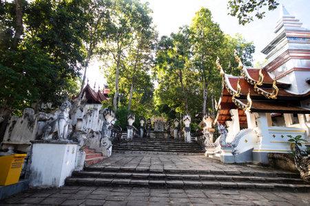 นle temple In the middle of the forest temple on the mountain of Thailand