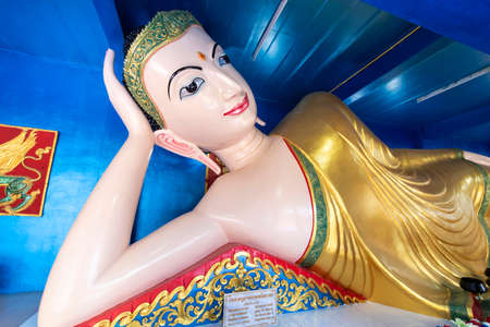 Beautiful Sleeping Buddha statue of Thailand Banque d'images