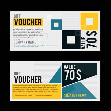 gift voucher template Reklamní fotografie - 42923299