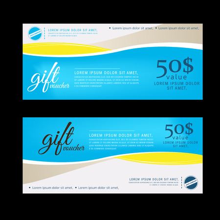 Gift Voucher template with premium