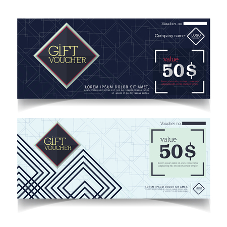 Gift Voucher template with premium pattern. Ilustrace