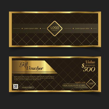 Gift Voucher Logo Premier Gold.Vector