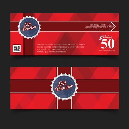 premier: Gift Voucher Logo Premier Color, Ribbons and red bow.