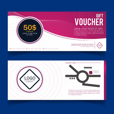 coupon: Gift Voucher Colorful,certificate coupon design, Vector illustration. Illustration