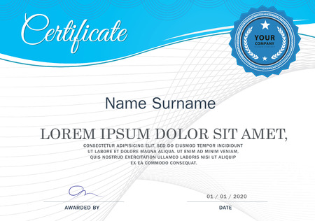 Certificate of achievement frame design template Imagens - 45266728