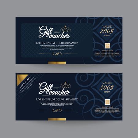 invitations card: Gift Voucher Premier Color, Ribbons.