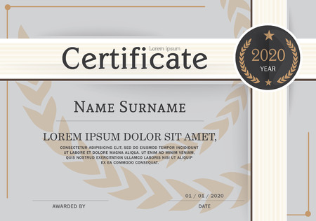 luxury template: Certificate of achievement frame design template.